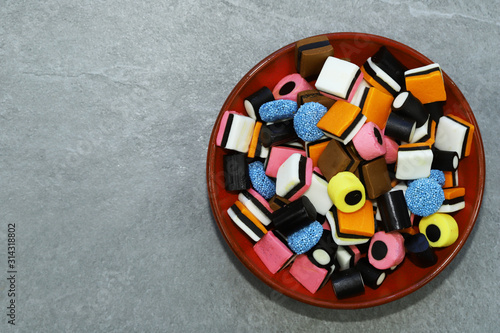 Colorful licorice candy. Wallpaper Mural