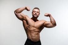 Young Muscular Bodybuilder Guy...