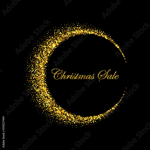 Fotomural Vector abstract crescent background gold fine dust Logo eps 10