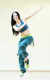 zumba instructor dancing fitness exercises