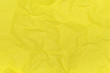 canvas print picture - Crumpled paper texture background of yellow colour. View from above.