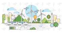 Wind Energy Vector Illustratio...