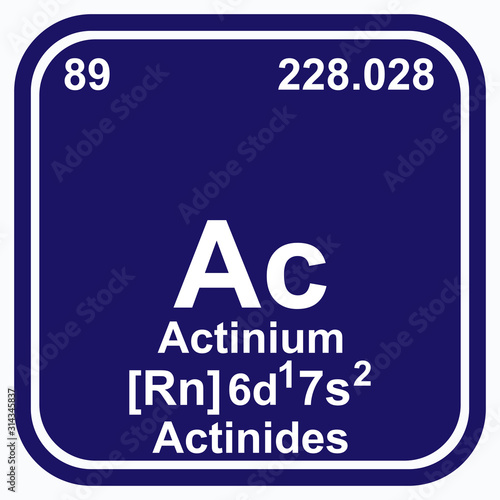 Actinium Periodic Table of the Elements Vector illustration eps 10 Wallpaper Mural