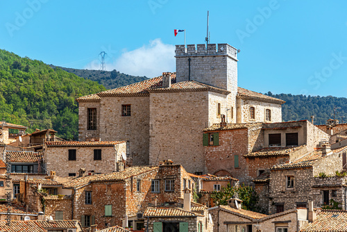 Photo Tourrettes-sur-Loup medieval village in Southeastern France