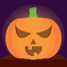 Spooky Halloween Pumpkin
