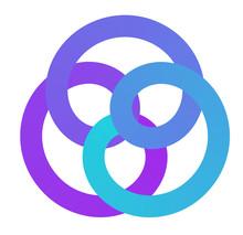 Vector Spirograph Laconic Gradient Logotype - Math Curve Logo Concept Design