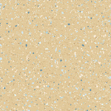 Terrazzo Flooring Seamless Pattern. Natural Organic Countertop Surface. Mosaic Floor With Natural Stones, Granite, Marble, Recycled Colored Glass, Plastic, Concrete. Grainy Background In Sandy Colors