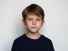 Portrait Of A Serious Little B...