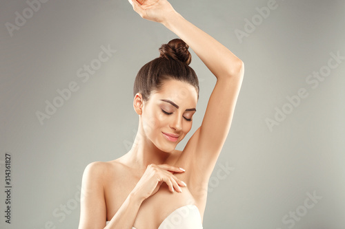 Armpit epilation, lacer hair removal Canvas Print