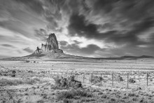 Arizona Dreaming, Landscape With Rocks. Black And White