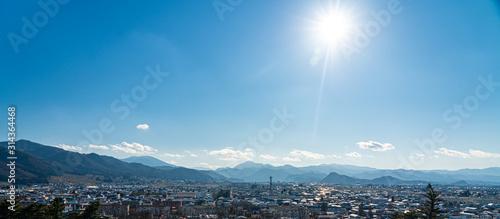 Photo 東北地方 福島県 会津 鶴ヶ城から見える景色