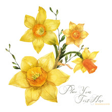 Yellow Spring Floral Bouquet W...
