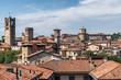 View of Old Town Citta Alta of Bergamo, Italy