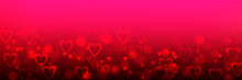 Valentine Background With Hearts