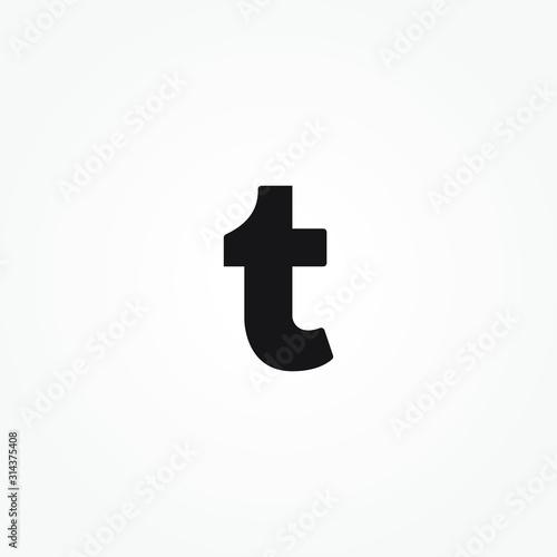 letter T logo simple design vector Wallpaper Mural