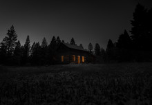 Old Cabin At Night