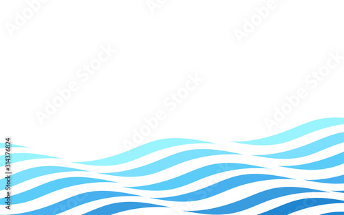 Abstract motion blue ocean wave fluid line abstract vector background