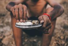 Poor Child Or Beggar Begging Y...
