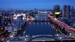 隅田川の夜景 空撮