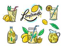 Summer Lemonade Set. Lemon, Mi...