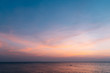 canvas print picture - sunset sky with clouds background