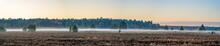 Panoramic View Of Misty Fog Ab...