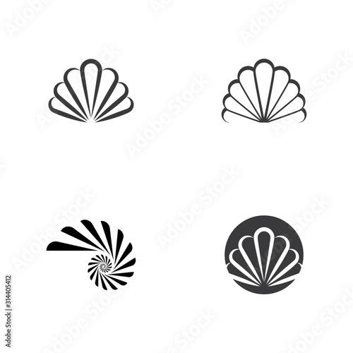 Canvastavla Shell icon Vector Illustration design Logo