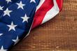 Close up shot of american usa flag