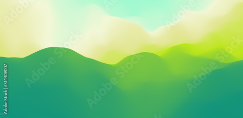 Obrazy zielone  landscape-with-green-mountains-mountainous-terrain-abstract-nature-background-vector-il