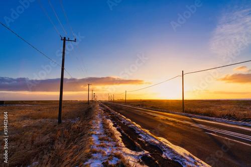 Fototapeta 早朝の野付半島 obraz