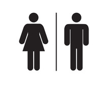 Men And Women Restroom Icon Si...