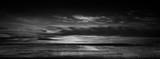 Fototapeta Fototapety z naturą - Dark Concrete Runway Street Floor with Night Sky Horizon