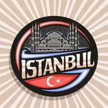 Vector Logo For Istanbul, Dark...