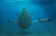 Naval Submarine Firing Torpedoes Underwater