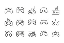 Icon Set Of Gamepad.