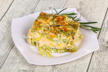 Tasty Casserole With Salmon An...