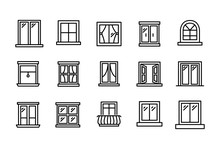 Set Of Window Related Vector L...