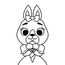 Rabbit With A Bow On Her Head ...