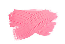 Pink Brush Stroke Isolated On ...