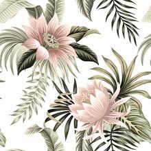 Tropical Vintage Pink Lotus, P...