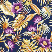 Tropical Vintage Floral Palm L...