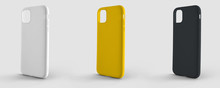 Mockup Plastic Case For Smartphone On An Isolated Background For Design Presentation.