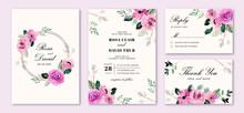 Wedding Invitation Set With Pu...