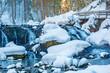 Leinwanddruck Bild - Walsertal - Winter - Wandern - Bach - Fluß