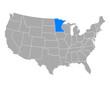 Karte von Minnesota in USA