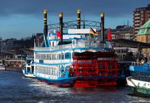 Raddampfer Hamburg Hafen Rundf...