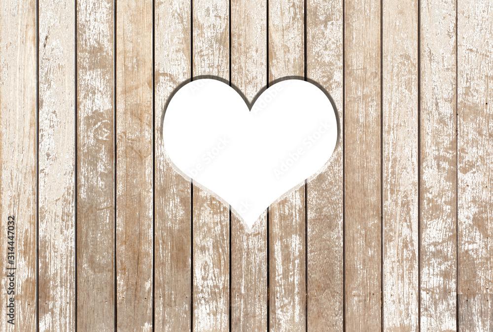 Fototapeta heart on wooden background