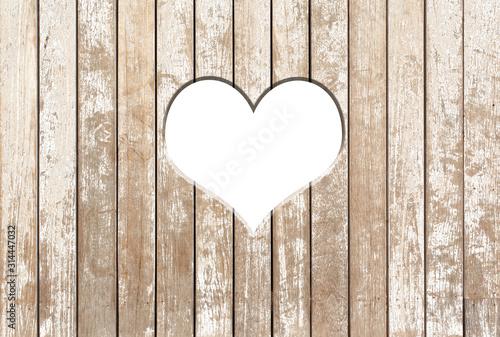 Fototapeta heart on wooden background obraz