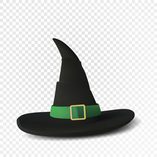 Realistic Witch Hat. Halloween...