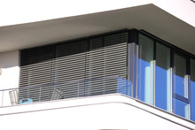 Window With Modern Blind